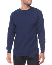 Thermals - Solid L/S Crewneck Thermal Top-2129329