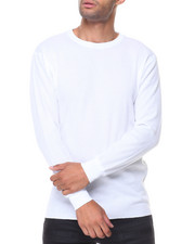 Thermals - Solid L/S Crewneck Thermal Top-2129174