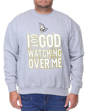 Men - L/S I Got God Watching over me Sweatshirt (B&T)