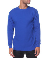 Thermals - Solid L/S Crewneck Thermal Top-2129184
