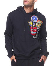 MADBLUE - French Terry Pullover Chest Patch Hoodie