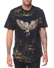 Men - S/S Gold Lurex Embr Graphic T