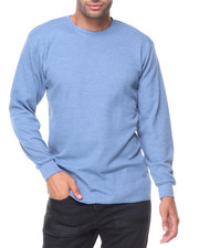 Thermals - Solid L/S Crewneck Thermal Top-2129150