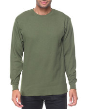 Thermals - Solid L/S Crewneck Thermal Top-2129311