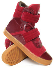 Radii Footwear - Bordeaux Patent Gum Cylinder High Top Sneaker