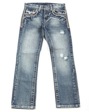 Bottoms - Premium Thick Stitch Embroidery Jeans (8-20)