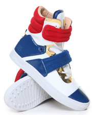 Radii Footwear - Cylinder Navy Red White Gold High Top Sneaker