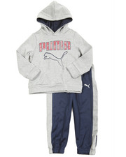 Puma - 2 Piece Tech Fleece Pullover Long Set (2T-4T)