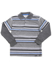 Boys - Striped L/S Polo (8-20)