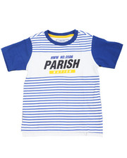 T-Shirts - Parish City Blocks Stripe Color Block Tee (4-7)
