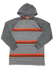 Tops - Striped L/S Hoodie (8-20)