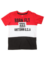 Born Fly - Pieced Color Block Tee (2T-4T)
