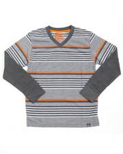 Boys - Striped L/S V-NECK (8-20)