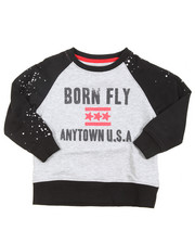 Born Fly - Crew Neck Raglan Loopback Sweatshirt (4-7)