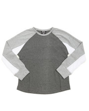 Arcade Styles - L/S Heathered Color Blocked Raglan Tee (8-20)
