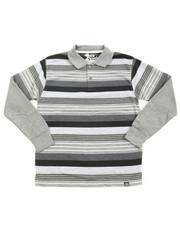 Polos - Striped L/S Polo (8-20)