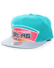 Mitchell & Ness - Cropped XL Logo San Antonio Spurs Hard Wood Classic Snapback