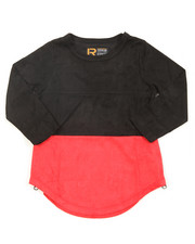 Tops - L/S Color Blocked Scalloped Tee (4-7)