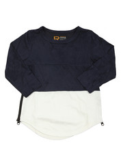 T-Shirts - L/S Color Blocked Scalloped Tee (4-7)