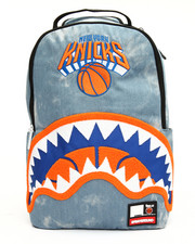 Sprayground - NBA LAB Knicks Denim Shark Backpack