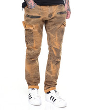 Men - Zipper Overdye Cargo Twill Pants