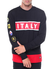 Men - L/S Italy Patches Jersey Tee