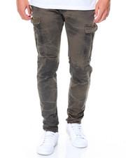 Men - Zipper Overdye Cargo Twill Pants