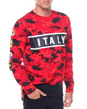 Shirts - L/S Italy Patches Jersey Tee