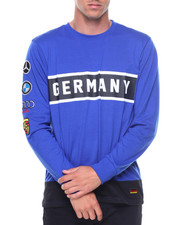 Men - L/S Germany Patches Jersey Tee