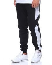 Jeans & Pants - Contrast Panels Fleece Jogger