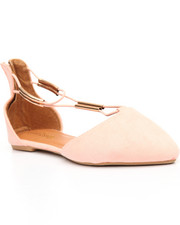 Flats - Back Zip/Pointed Toe Flat