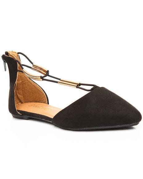 Fashion Lab - Back Zip/Pointed Toe Flat