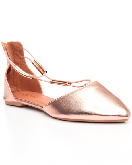 Fashion Lab - Back Zip/Pointed Toe Flat