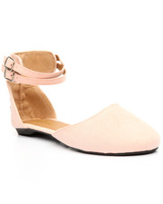 Flats - Ankle Strap/ Pointed Toe Flat