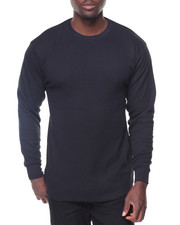 Thermals - Solid L/S Crewneck Thermal Top-2132575
