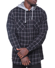 Button-downs - Parker Flannel Hoodie