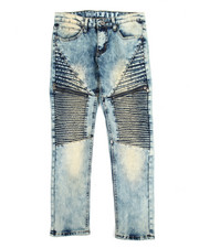 Jeans - Pleated Zip Trim Jeans (8-20)