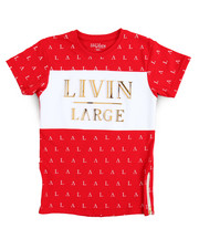 Tops - S/S Livin Large Crew Neck Tee (8-20)