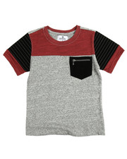 Boys - Trapunto Velour Trim Tee