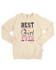 Girls - Best Girl Ever Cold Shoulder Top (7-16)