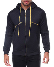 Buyers Picks - Gold Trim Quilted Hoodie