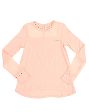Tops - Studded Peekaboo Chiffon Top (7-16)
