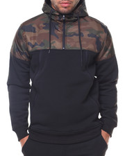 Hoodies - Pullover Fleece Nylon Color Block Top