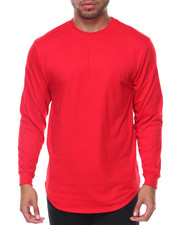 Shirts - Mens Crew Neck Long Tail Tee