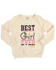 Girls - Best Girl Ever Cold Shoulder Top (4-6X)