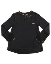 Tops - Studded Peekaboo Chiffon Top (4-6X)