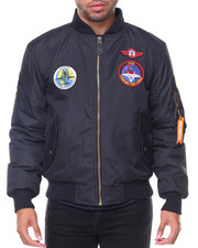 Men - Patches Aviator MA1 Jacket