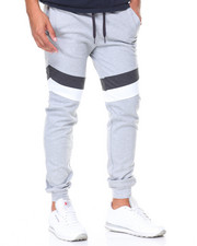 Men - Color Block Tech Fleece Joggers