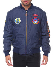 Heavy Coats - Patches Aviator MA1 Jacket