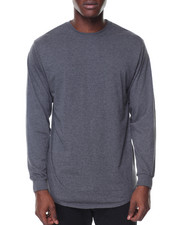 Men - Mens Crew Neck Long Tail Tee